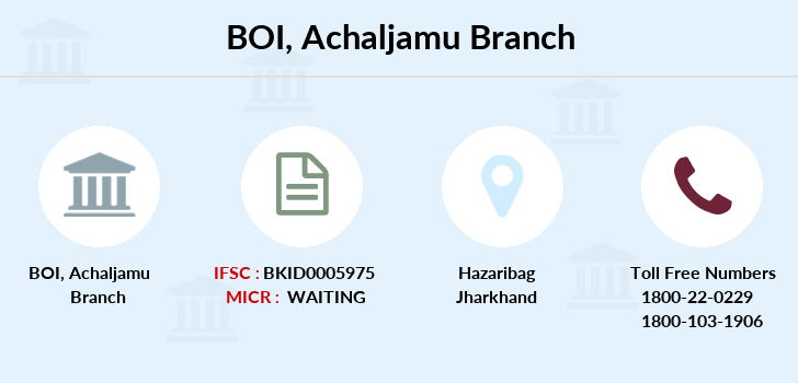 Bank-of-india Achaljamu branch