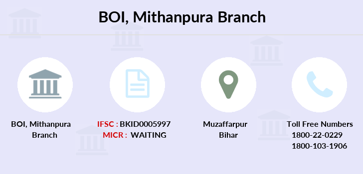 Bank-of-india Mithanpura branch