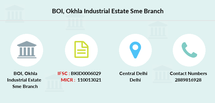 Bank-of-india Okhla-industrial-estate-sme branch