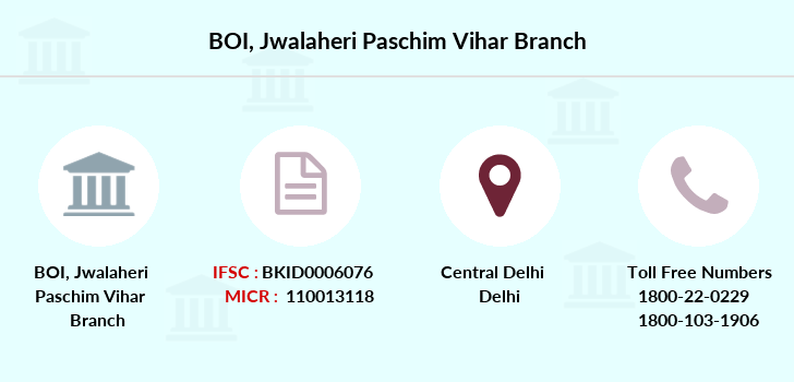 Bank-of-india Jwalaheri-paschim-vihar branch