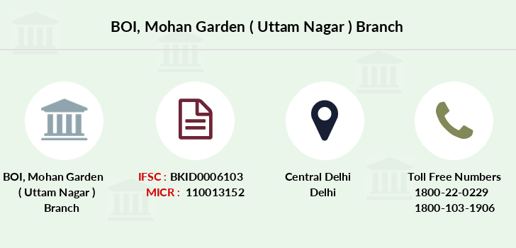 Bank-of-india Mohan-garden-uttam-nagar branch