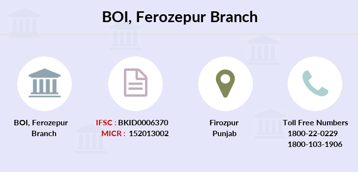Bank-of-india Ferozepur branch