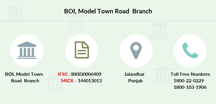 Bank-of-india Model-town-road branch