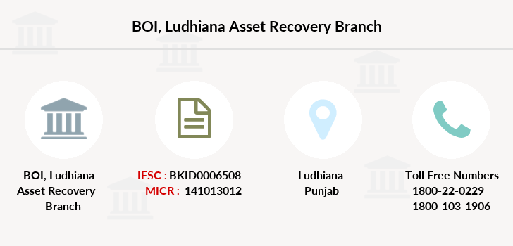 Bank-of-india Ludhiana-asset-recovery branch
