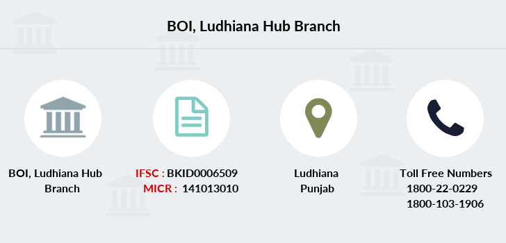 Bank-of-india Ludhiana-hub branch