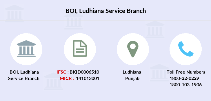 Bank-of-india Ludhiana-service branch