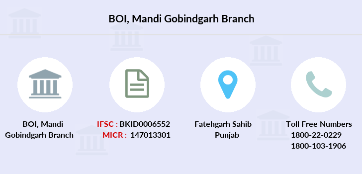 Bank-of-india Mandi-gobindgarh branch