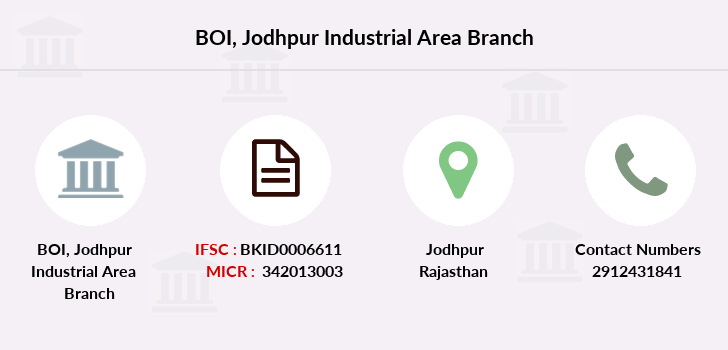 Bank-of-india Jodhpur-industrial-area branch