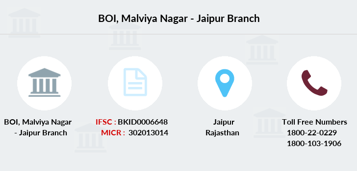Bank-of-india Malviya-nagar-jaipur branch