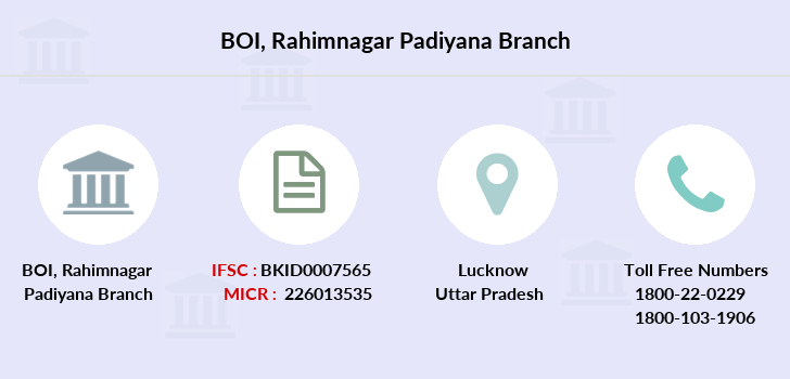 Bank-of-india Rahimnagar-padiyana branch