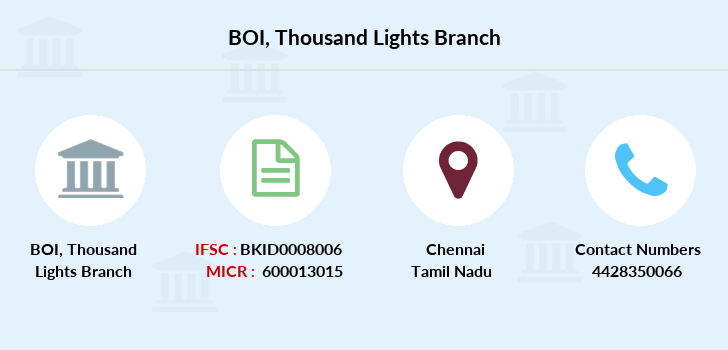 Bank-of-india Thousand-lights branch