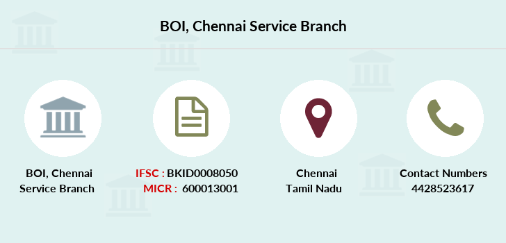 Bank-of-india Chennai-service branch
