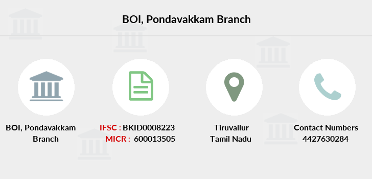 Bank-of-india Pondavakkam branch