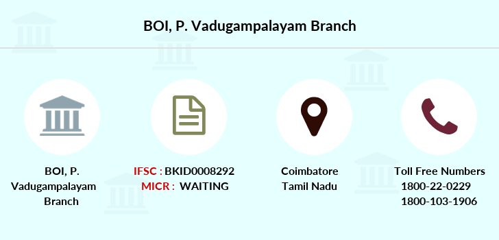 Bank-of-india P-vadugampalayam branch