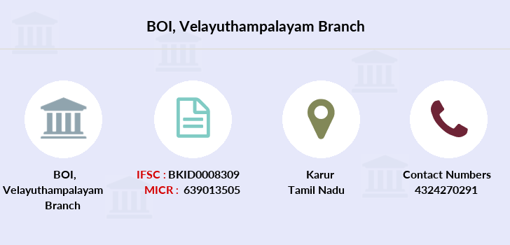 Bank-of-india Velayuthampalayam branch