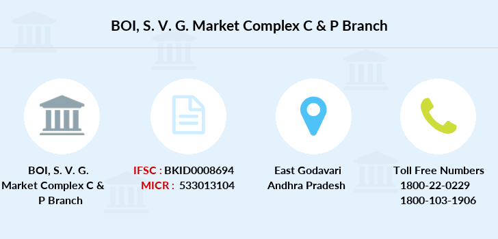 Bank-of-india S-v-g-market-complex-c-p branch