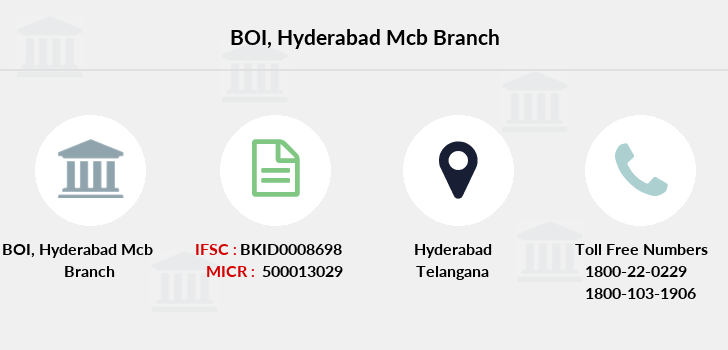 Bank-of-india Hyderabad-mcb branch