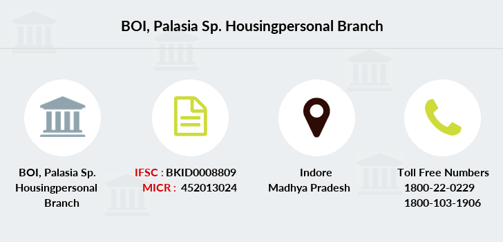 Bank-of-india Palasia-sp-housingpersonal branch