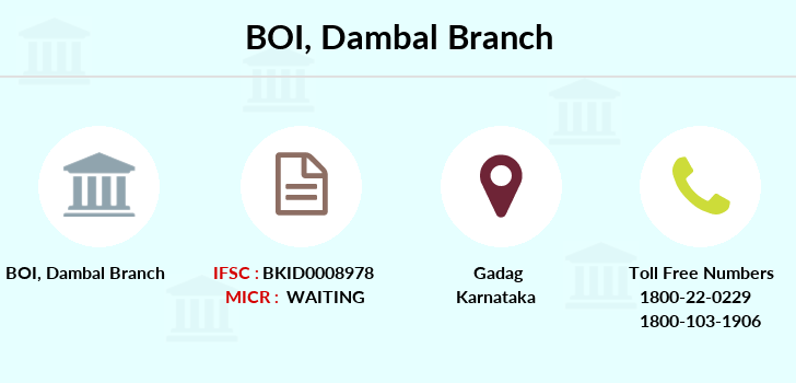 Bank-of-india Dambal branch