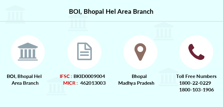 Bank-of-india Bhopal-hel-area branch