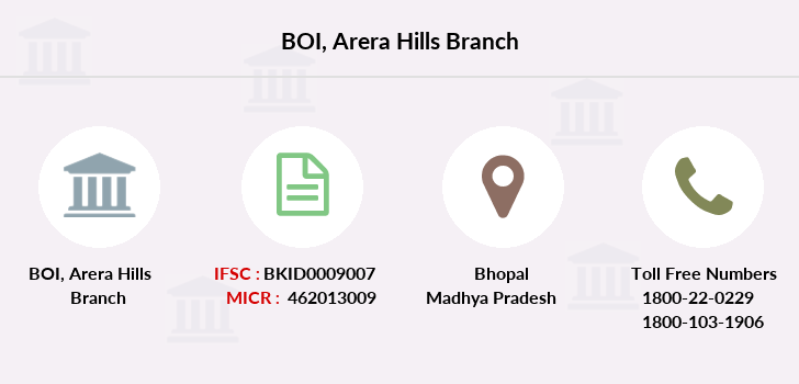 Bank-of-india Arera-hills branch