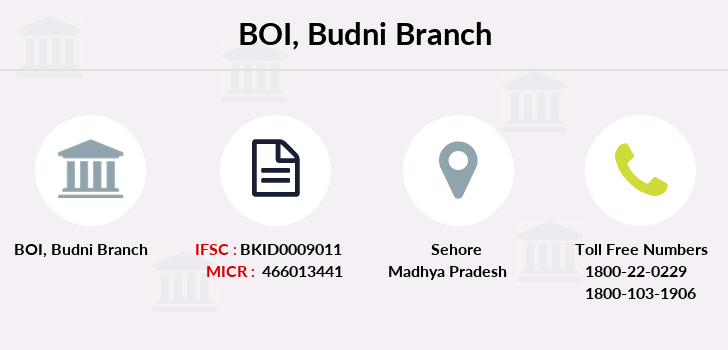 Bank-of-india Budni branch