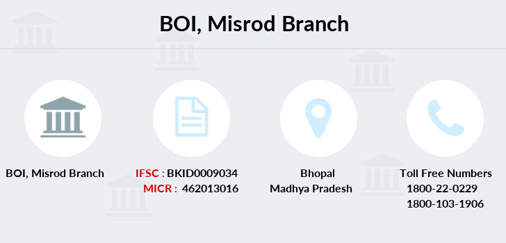 Bank-of-india Misrod branch