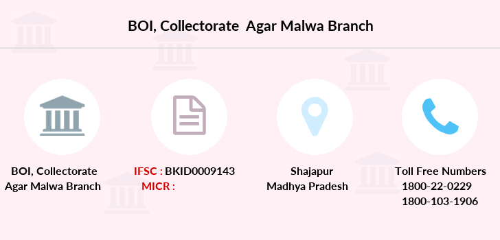 Bank-of-india Collectorate-agar-malwa branch