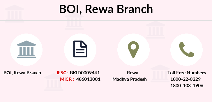 Bank-of-india Rewa branch