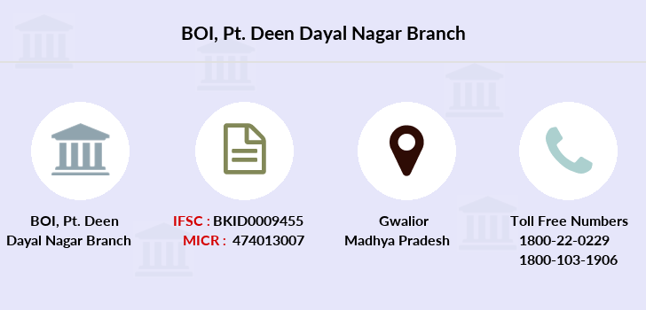 Bank-of-india Pt-deen-dayal-nagar branch