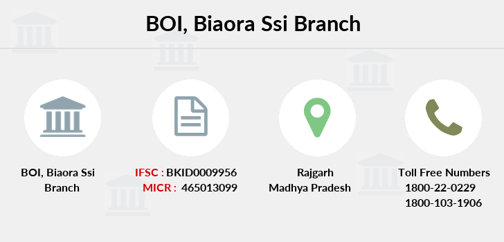 Bank-of-india Biaora-ssi branch
