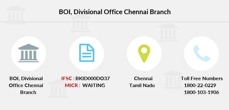 Bank-of-india Divisional-office-chennai branch