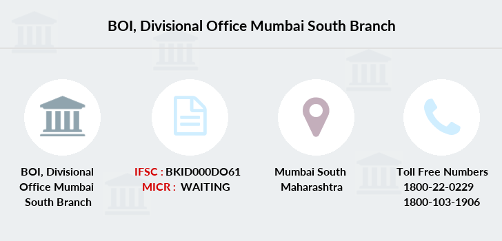 Bank-of-india Divisional-office-mumbai-south branch