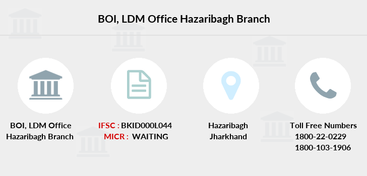 Bank-of-india Ldm-office-hazaribagh branch