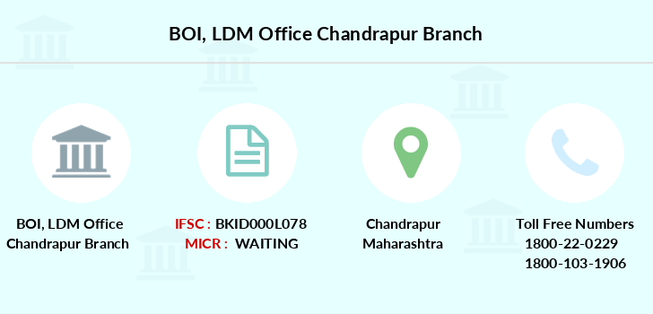 Bank-of-india Ldm-office-chandrapur branch