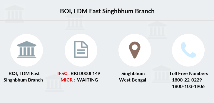Bank-of-india Ldm-east-singhbhum branch