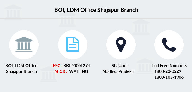 Bank-of-india Ldm-office-shajapur branch
