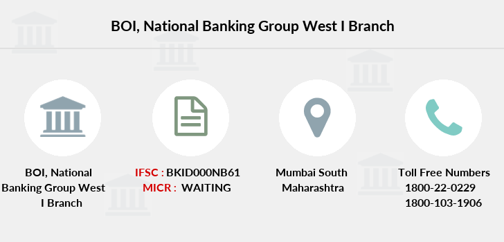 Bank-of-india National-banking-group-west-i branch