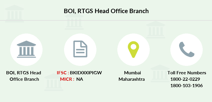 Bank-of-india Rtgs-head-office branch