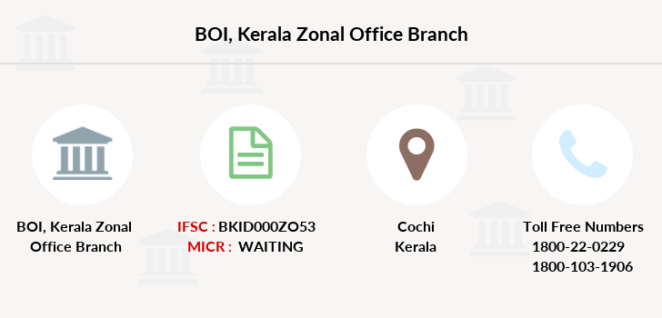 Bank-of-india Kerala-zonal-office branch