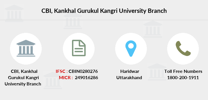 Central-bank-of-india Kankhal-gurukul-kangri-university branch