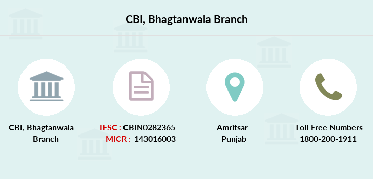 Central-bank-of-india Bhagtanwala branch