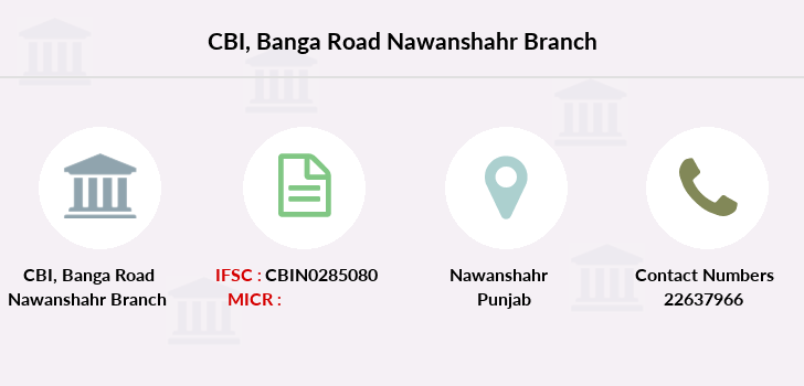 Central-bank-of-india Banga-road-nawanshahr branch
