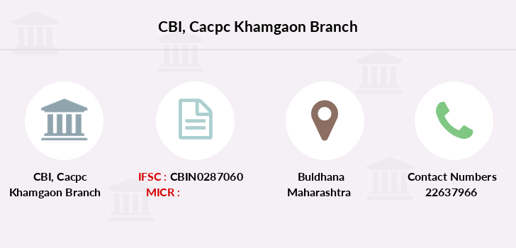 Central-bank-of-india Cacpc-khamgaon branch