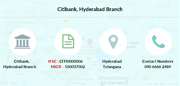 Citibank Hyderabad IFSC Code CITI0000006 on coca-cola map, nike map, united airlines map, home depot map, bb&t map, citigroup branches map, everbank map,