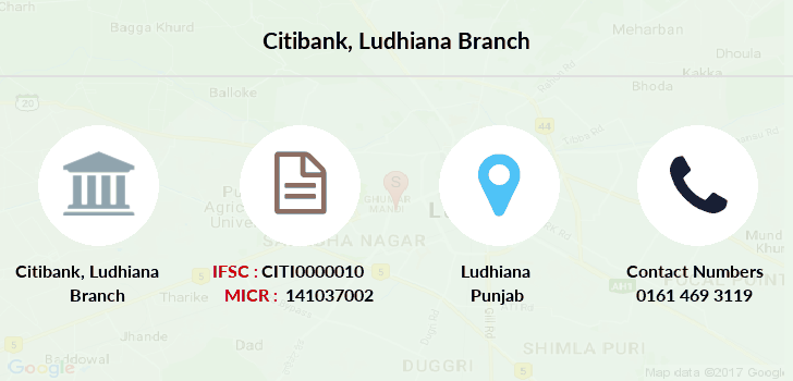 Citibank Ludhiana branch