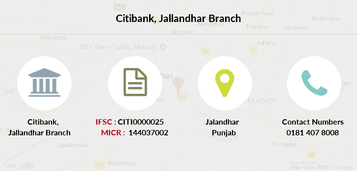 Citibank Jallandhar branch
