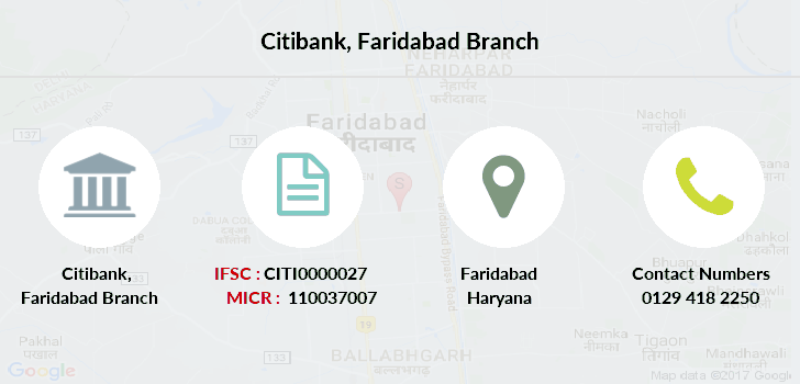 Citibank Faridabad branch