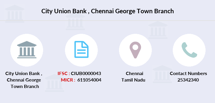 City-union-bank Chennai-george-town branch