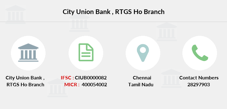 City-union-bank Rtgs-ho branch